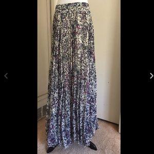 Anthropologie Fei Long Pleated Skirt, Size 4
